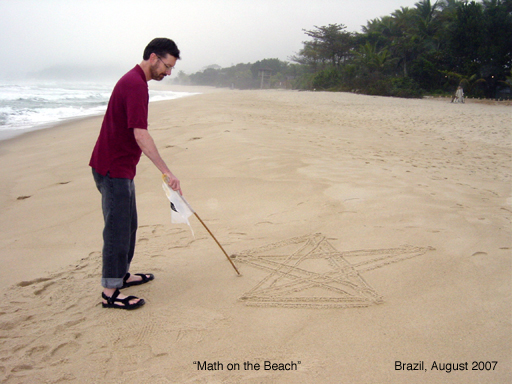 Math on the beach, Brazil, August 2009
