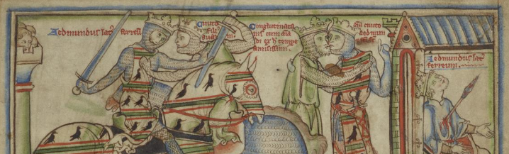 Cnut and Edmund Ironside, CUL MS Ee.3.59, fol. 5r
