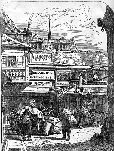 Image of the Tabard Inn in the 19th c.